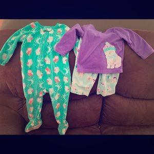 Fleece pajama bundle